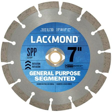 Lackmond 7-inch Segmented Rim Diamond Blade for Dry Cutting Cutting Segmented Rim Diamond Blade