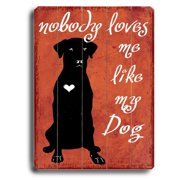 Artehouse LLC Nobody Loves Me Planked by Kate Ward Thacker Graphic Art Plaque