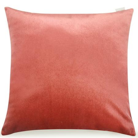 Pal Fabric Velvet Cushion Sham Throw Decroractive Sofa Pillow Cover 18x18 inches (BLUSH) ()