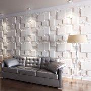3D Wall Panels for Interior Wall Decoration Brick Design Pack of 6 Tiles 32 Sq Ft (Plant Fiber)