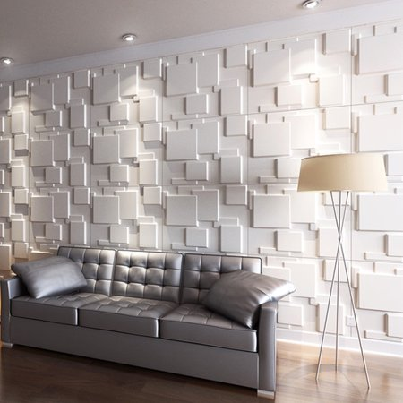 Wall Decoration Design (3D Wall Panels for Interior Wall Decoration Brick Design Pack of 6 Tiles 32 Sq Ft (Plant)