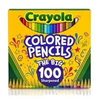 Crayola Colored Pencil Set, Child, Assorted Colors, 100 Count