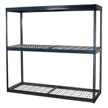 Heavy Duty Garage Shelving (Storage Max Garage Shelving Boltless, 72 x 24 x 72, Heavy Duty, Double Rivet Beams, 3 Shelves)