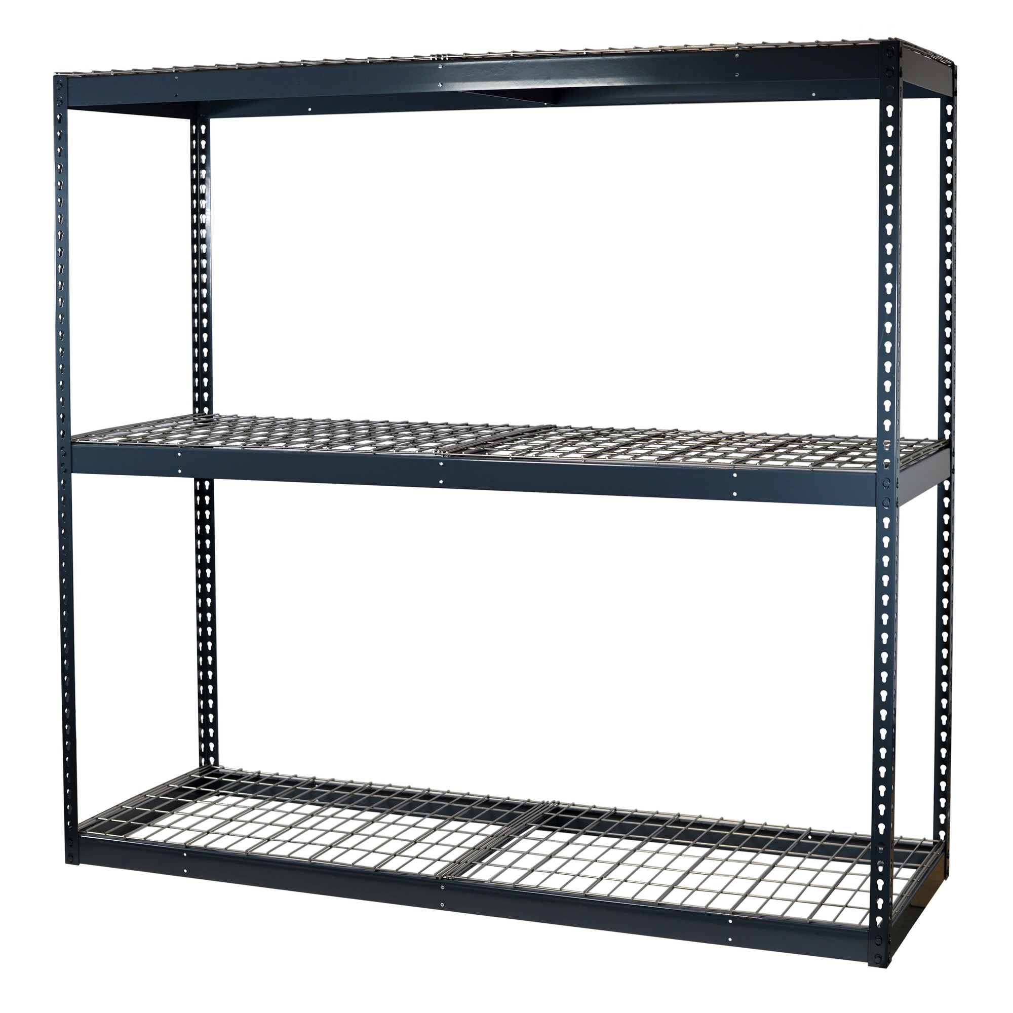 Storage Max Garage Shelving Boltless, 72 x 24 x 72, Heavy Duty, Double Rivet Beams, 3 Shelves