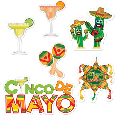 The Beistle Company 6 piece Cinco De Mayo Standup Set
