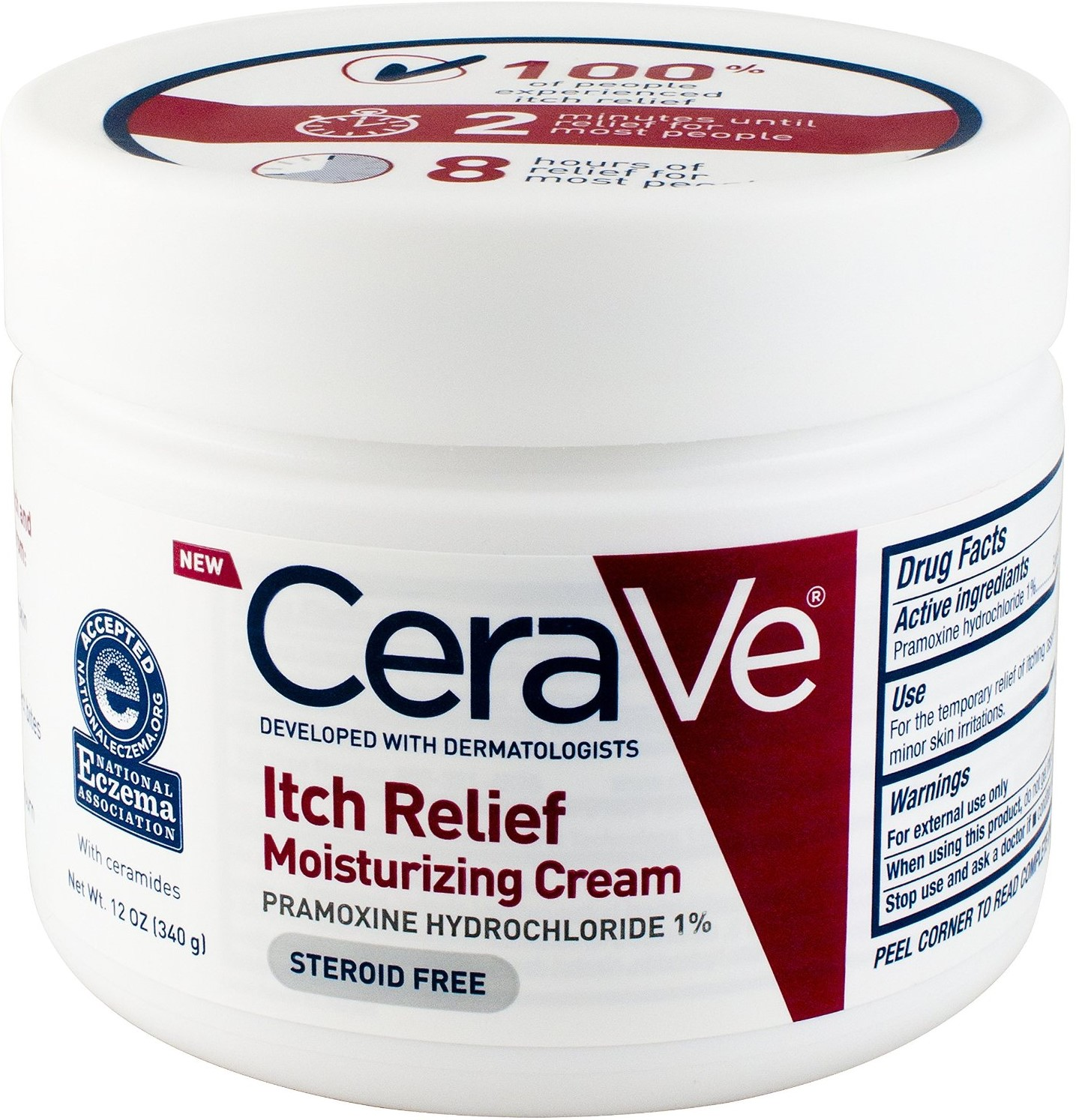 CeraVe Itch Relief Moisturizing Cream 12 oz (Pack of 6)