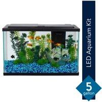 Aqua Culture 5-Gallon Fish Tank LED Aquarium Starter Kit