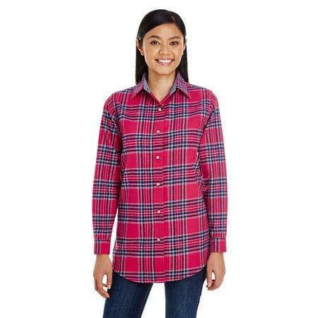 Backpacker BP7030 Ladies Yarn-Dyed Flannel Shirt - Blue Stuart - X-Small