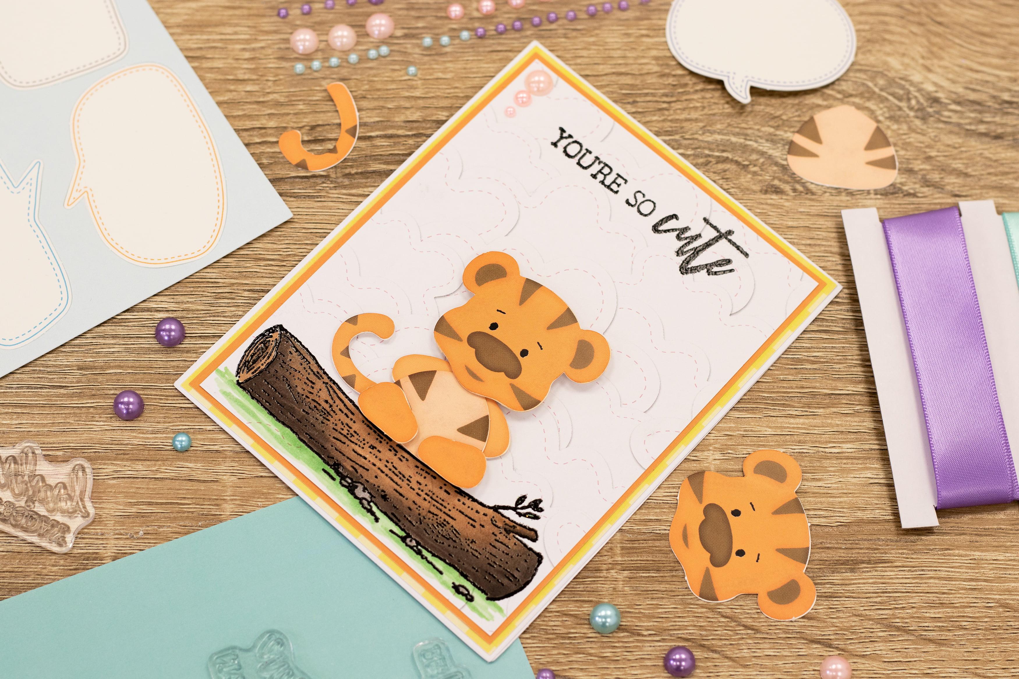 Crafter/'s Companion Build A Character Kraft Box Kit Dies Bear