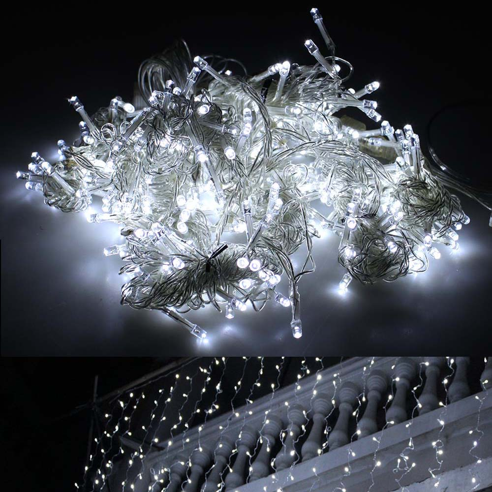 9.84ft*9.84ft Connectable 416 LED Lights String Lighting Christmas White w  8 lighting modes by