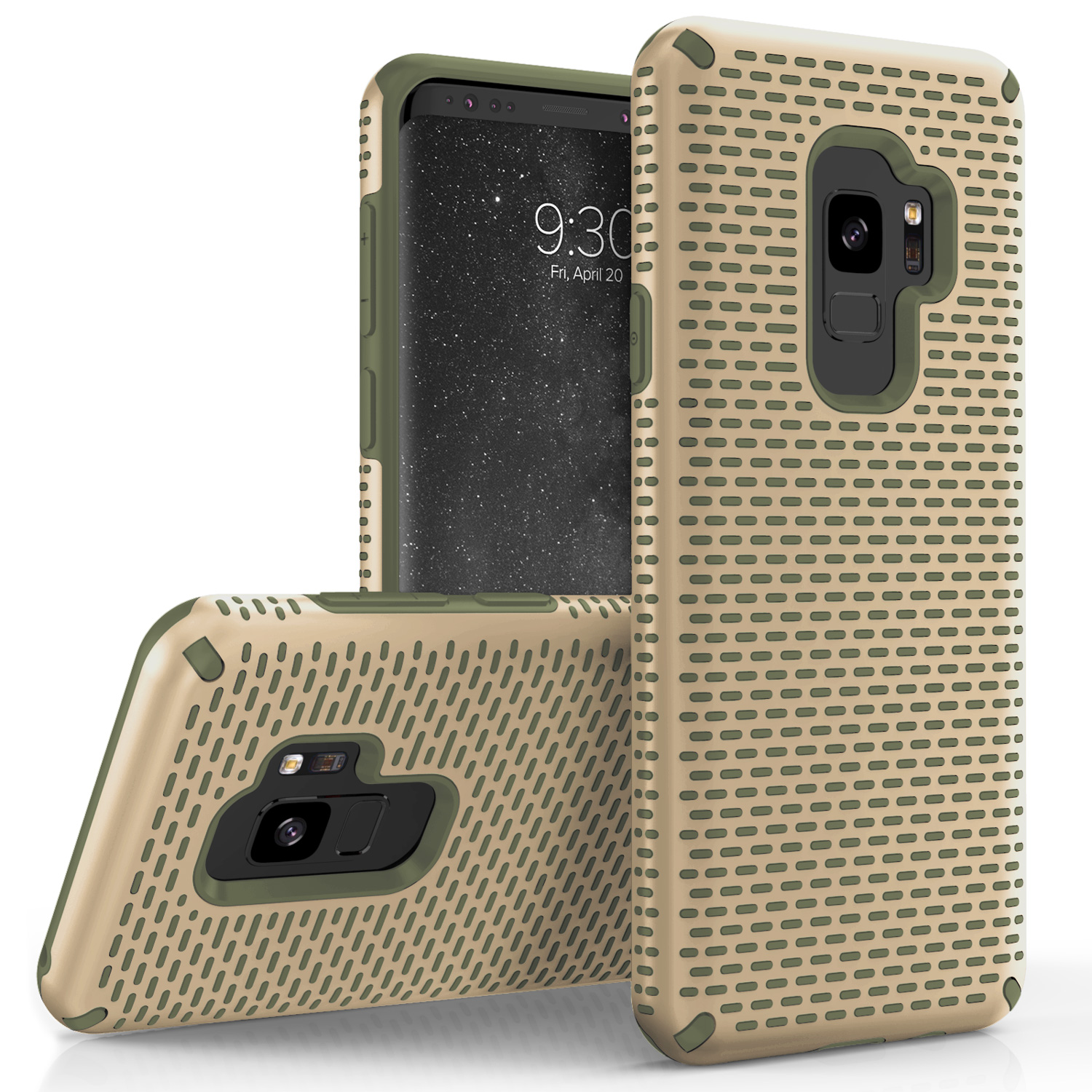 Zizo Echo Series Samsung Galaxy S9 / S9 Plus Case - TPU and PC w/ Anti-Slip Grip