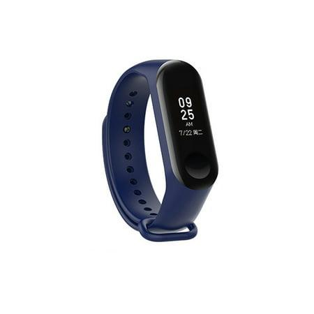 Silicone Wrist Strap Replacement for Xiaomi mi 3 Smart Bracelet Mi3 Accessories Navy blue