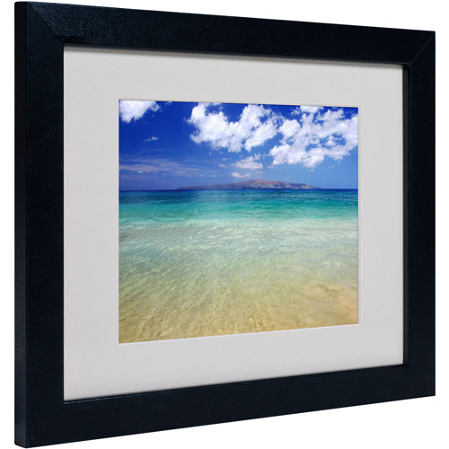 "Trademark Fine Art ""Hawaii Blue Beach"" Matted Framed Art by Pierre Leclerc"