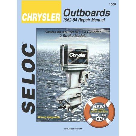 CHRYSLER OUTBOARDS 1962-1984, 3.5-150 HP Engine Repair Manual 1989 Outboard Repair Manual