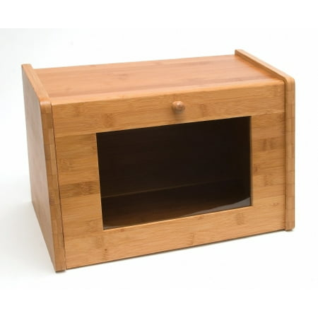 Lipper Bamboo Bread Box with W