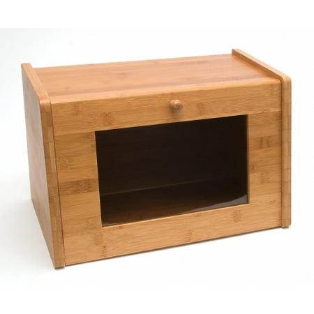 - Lipper Bamboo Bread Box with W