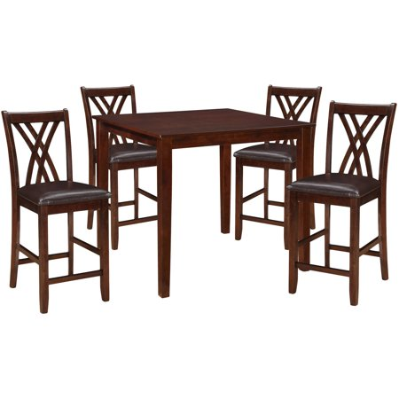 Acme Furniture Zaria 5 Piece Counter Height Square Dining