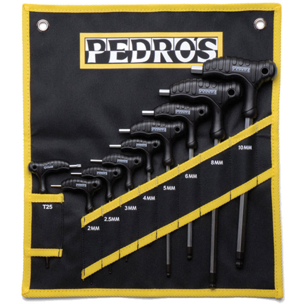 Pedro's Pro T/L Handle Hex Set 2-10mm with Torx 25