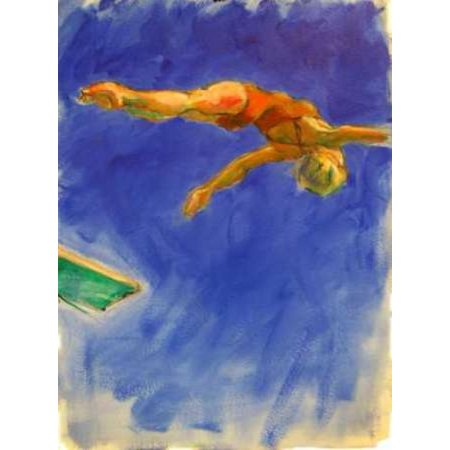Diver Rolled Canvas Art - Kate Hoffman (9 x 12) Sports Dhiver Canvas Art