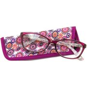 Foster Grant Women's Gwennie Reading Glasses, Pink