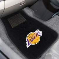 Los Angeles Lakers 2-Piece Embroidered Car Mat Set - No Size