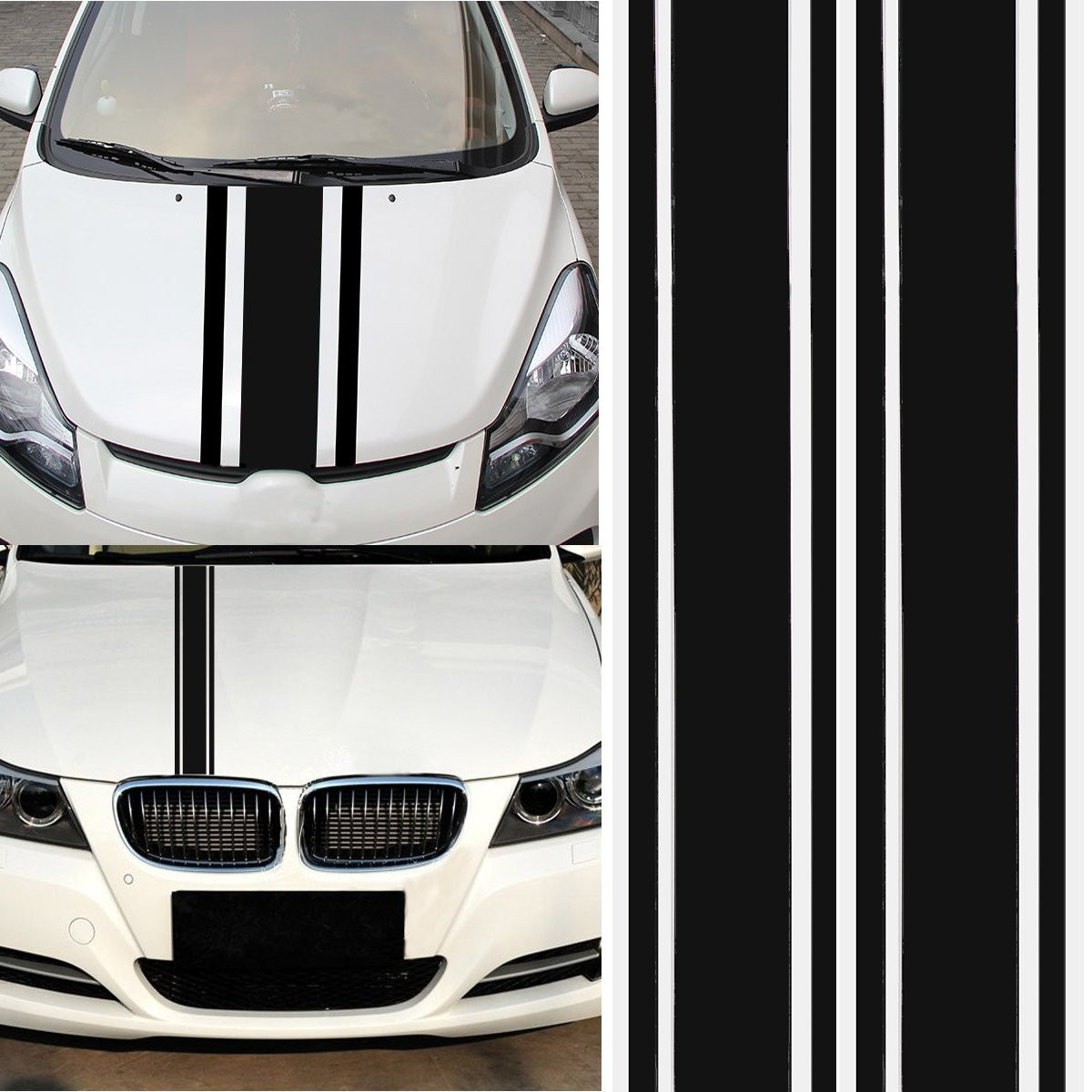 Race car truck hood wrap graphic vinyl decal  BA