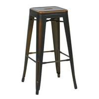 """Bristow 30"""" Antique Metal Barstool, Antique Copper, 4-Pack"""