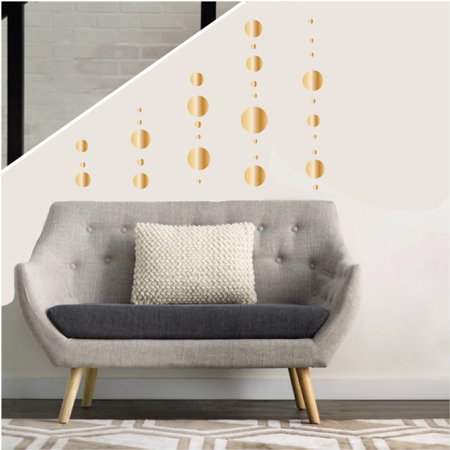 Gold Polka Dot Wall Decals Stickers Gold Circle Decals for the  Nursery or Children