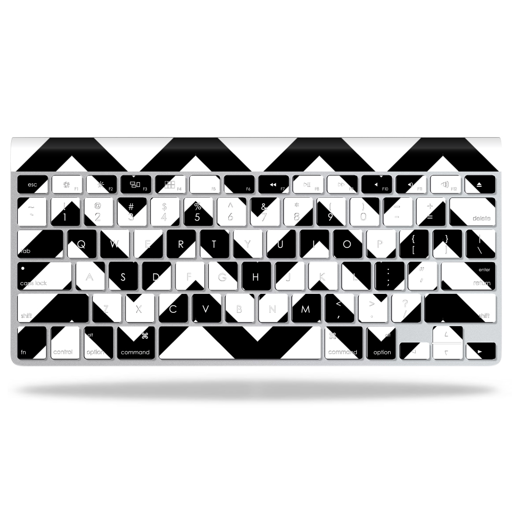 MightySkins Protective Vinyl Skin Decal for Apple Wireless Keyboard wrap cover sticker skins Black Chevron