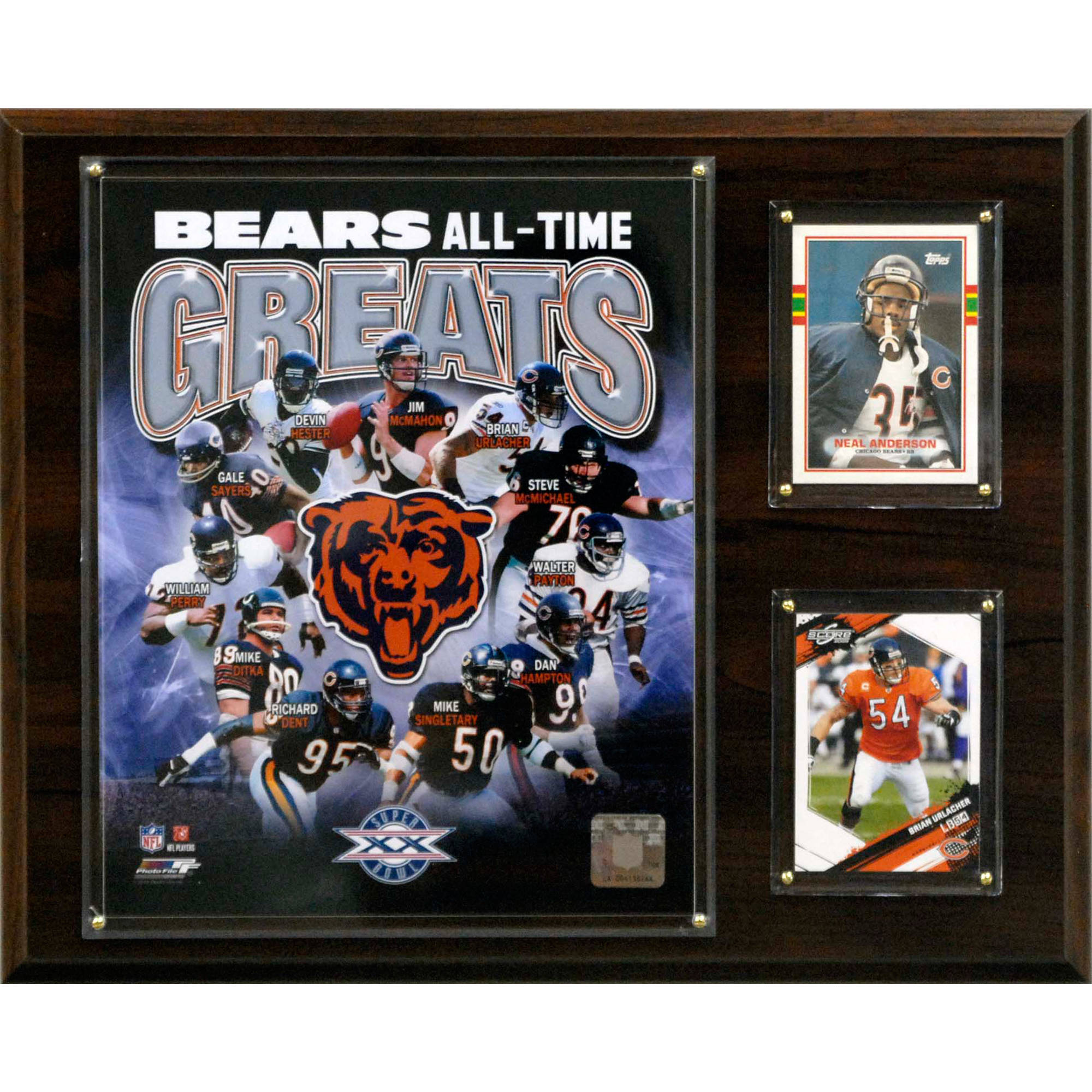 C&I Collectables NFL 12x15 Chicago Bears All-Time Great Photo Plaque