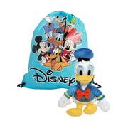 "Disney 11"" Donald Duck Toy Plush Doll w/ Sling Bag 2 Piece Set"