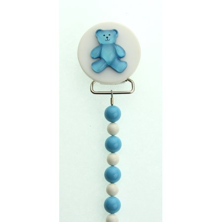 Teddy Bear with Swarovski Pearls Pacifier Clip