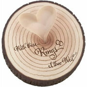"Lillian Rose ""I Thee Wed"" Tree Trunk Ring Holder"