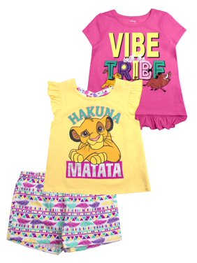 0974b883a1 Product Image 2 Graphic Tops and Legging, 3-Piece Outfit Set (Little Girls  & Big