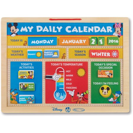 Melissa   Doug Disney Mickey Mouse Clubhouse My Magnetic Daily Calendar