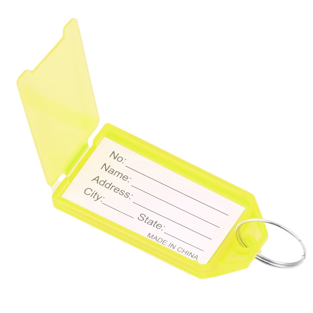 1 x Plastic Key Tags Key Rings ID Identity Tags Rack Name Card Label New On Promotion by YKS