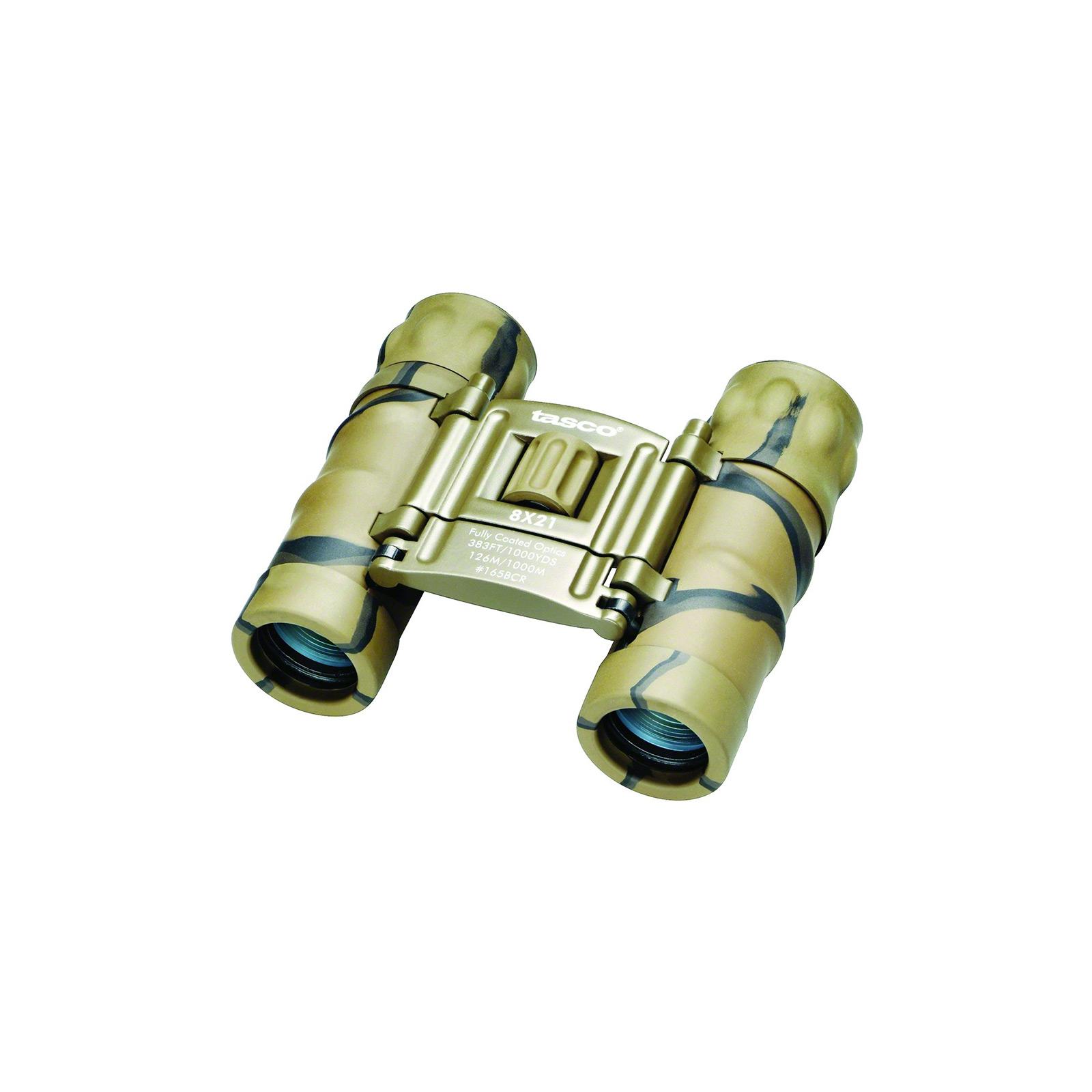 Tasco Essentials Binocular 8x21 FRP Camo Compact, 165BCRD