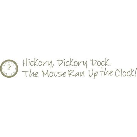 Wallpops Hickory Dickory Dock Nursery Rhyme Wall Quote Walmartcom