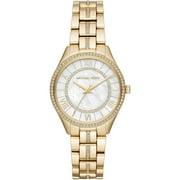 Michael Kors Women's Lauryn 33mm Gold-Tone Steel Bracelet & Case Quartz MOP Dial Analog Watch MK3899