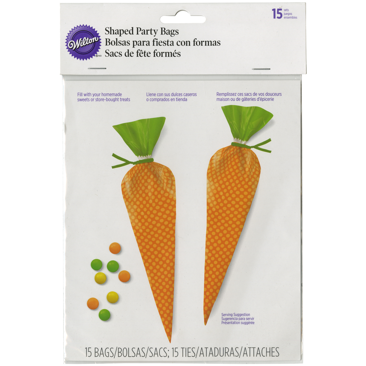 Shaped Party Bags-Carrot 15/Pkg