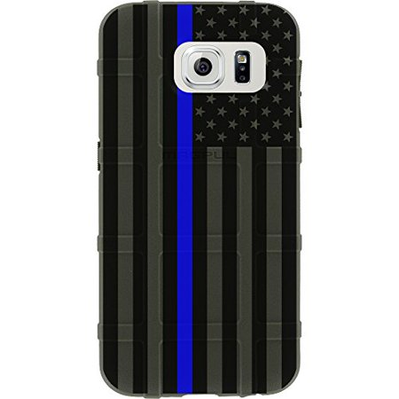 LIMITED EDITION - Authentic Made in U.S.A. Magpul Industries Field Case for Samsung Galaxy S7 (Not for S7 Edge or S7 Active) (OD Green Subdued US Flag, Thin Blue Line)