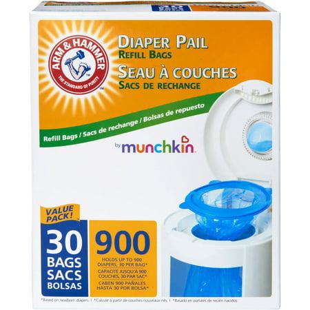Munchkin Arm Hammer Diaper Pail Bag Refills 30pk