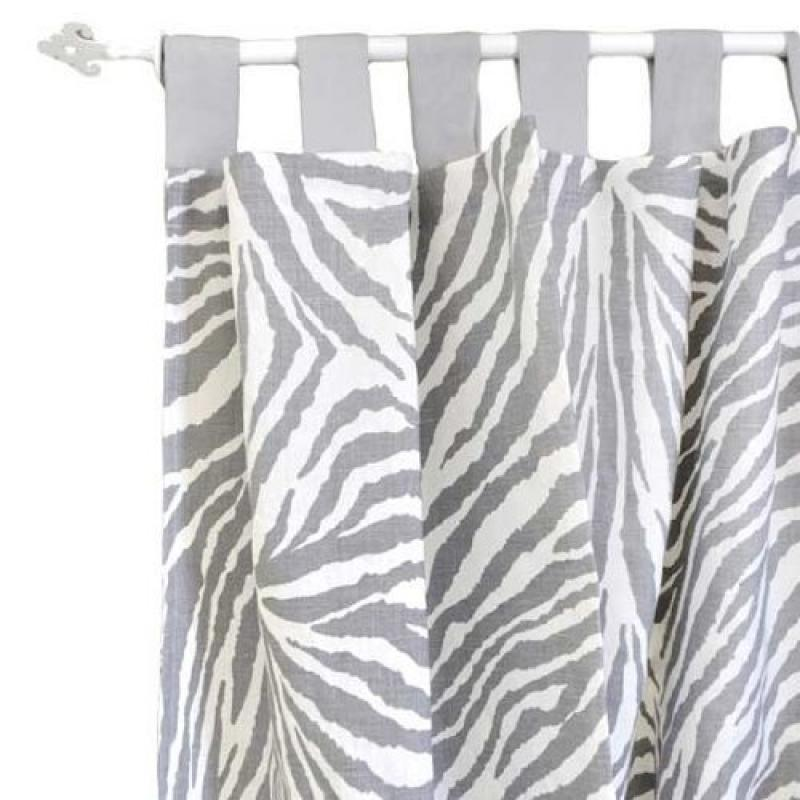 New Arrivals Curtain Panels, Safari in Gray, 2 Count