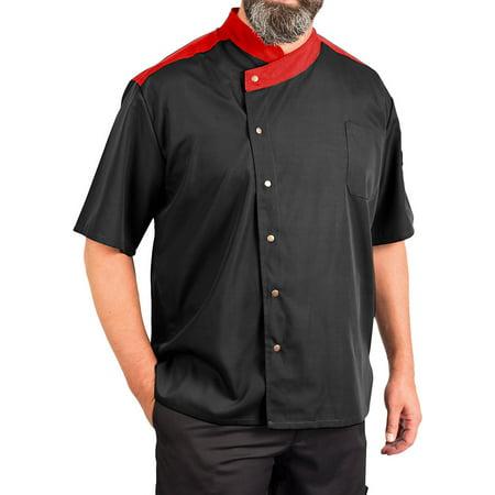 Men's Lightweight Uptown Snap Front Chef Coat (Uptown Coat)