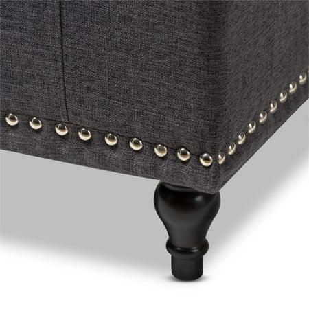 Hawthorne Collection Storage Bench in Dark Gray - image 5 of 8
