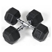 5 lbs. Rubber Coated Hex Dumbbell - Set of 2
