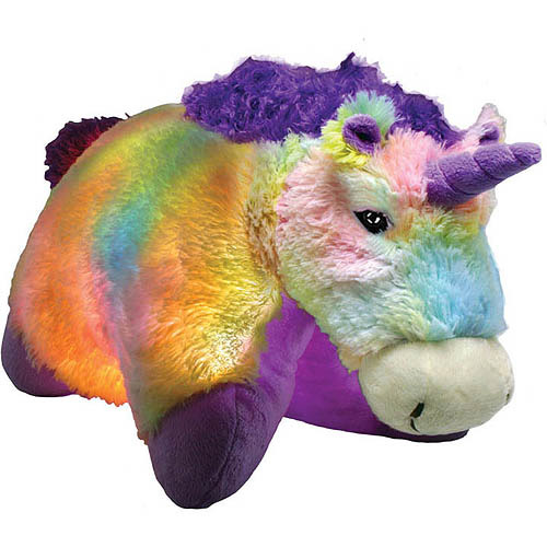 As Seen on TV Pillow Pet Glow Pets, Tiedye Unicorn