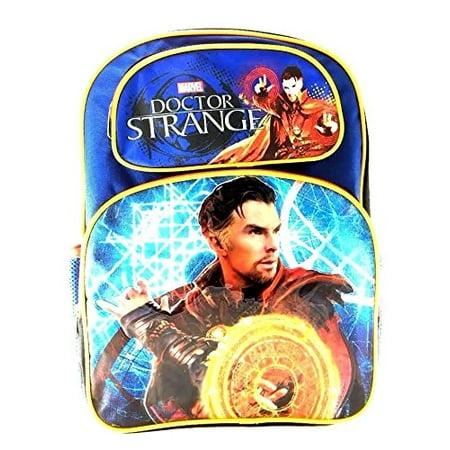 Doctor Strange 16 Canvas Blue School Backpack (Doctor Who Backpack)