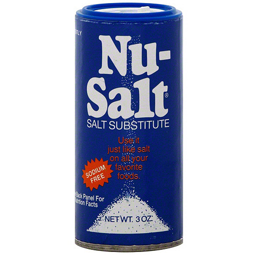 Nu-Salt Substitute Salt, 3 oz (Pack of 12)