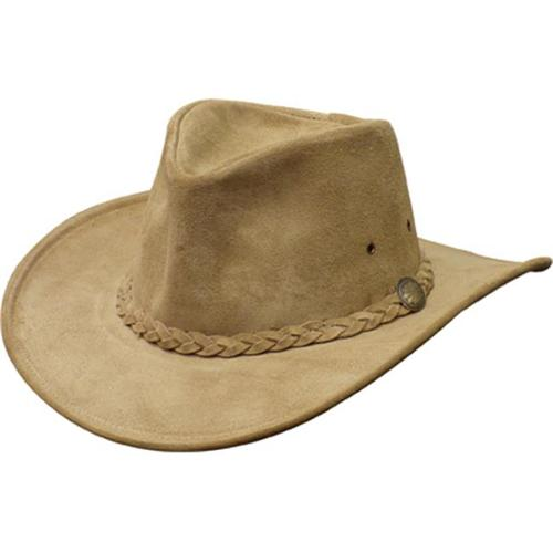 Henschel 1159-13XL Suede Crushable Weekend Walker Cowhide Leather Cowboy Hat, Tan, Extra Large